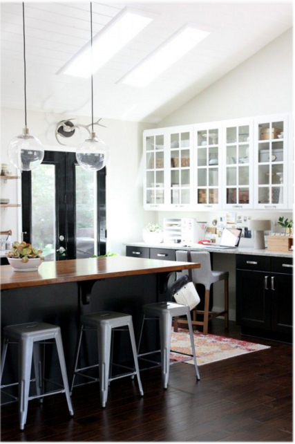 black ikea kitchen