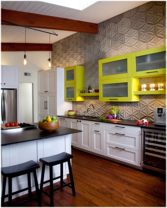 textured kitchen