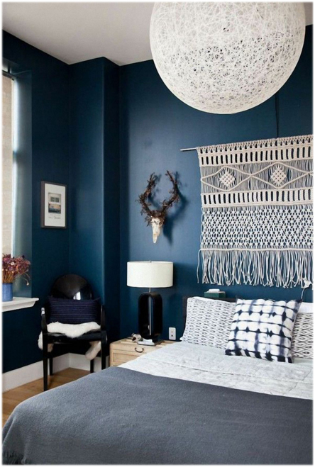 navy wall woven