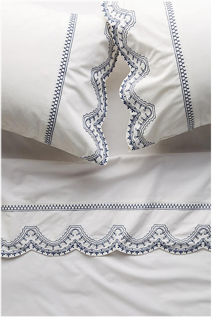 scalloped bedding