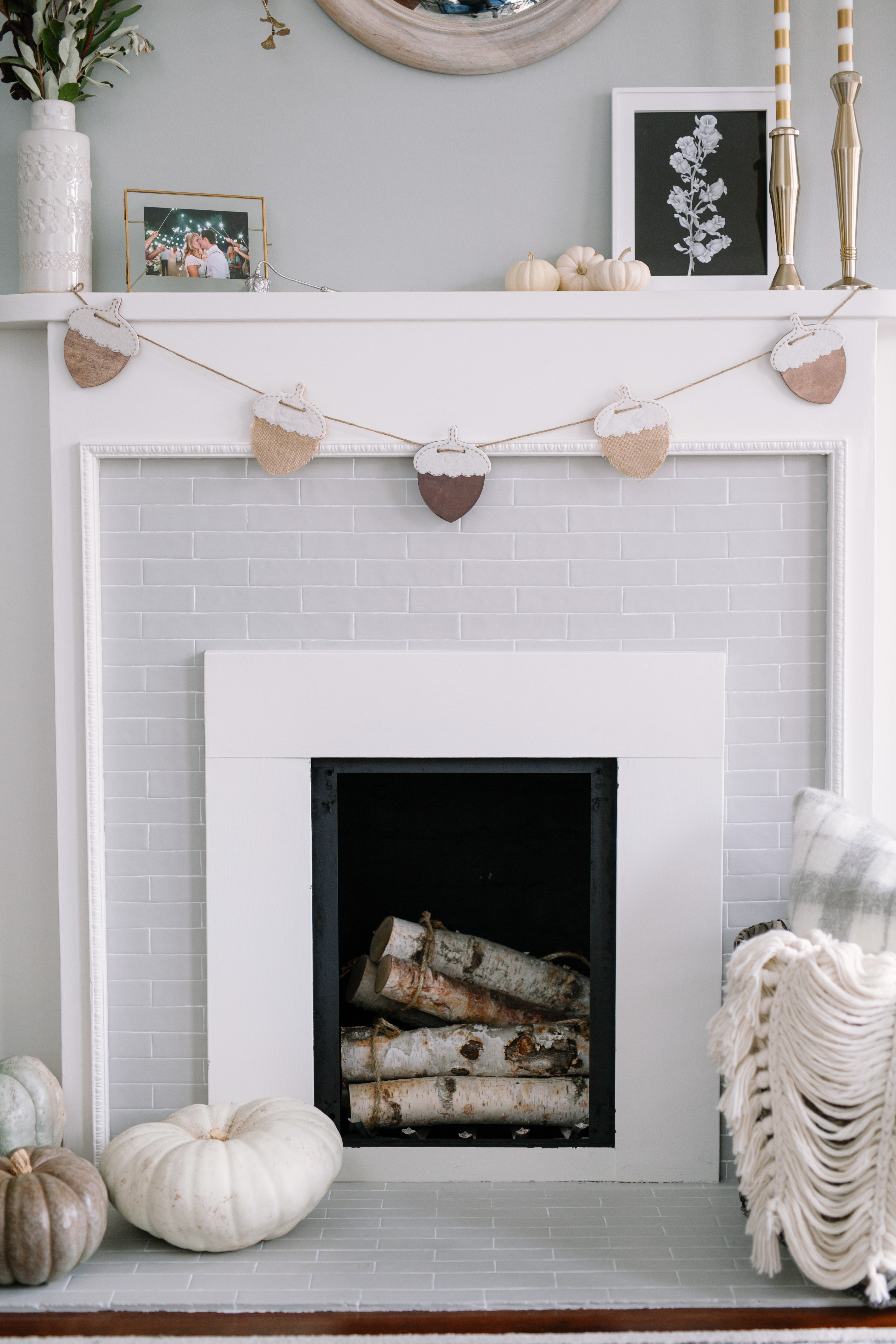 diy painted tile on a fireplace non working makeover u2013 my