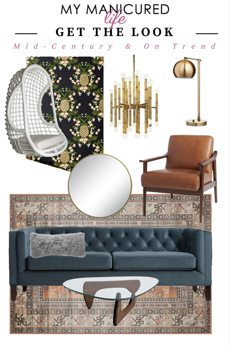 Home Tour Mid Century And On Trend My Manicured Life