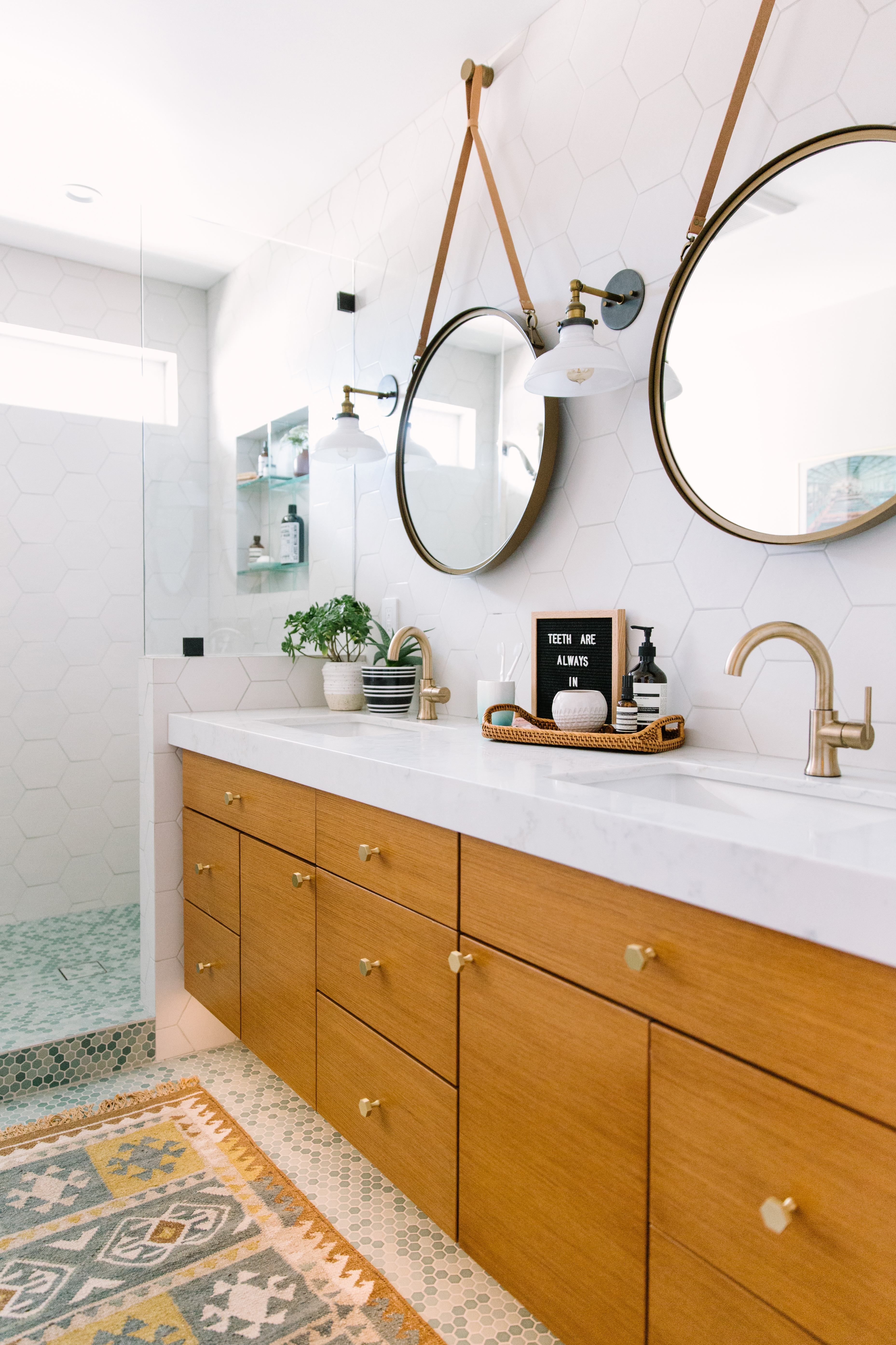 A Colorful and Timeless Bathroom Remodel – My Manicured Life