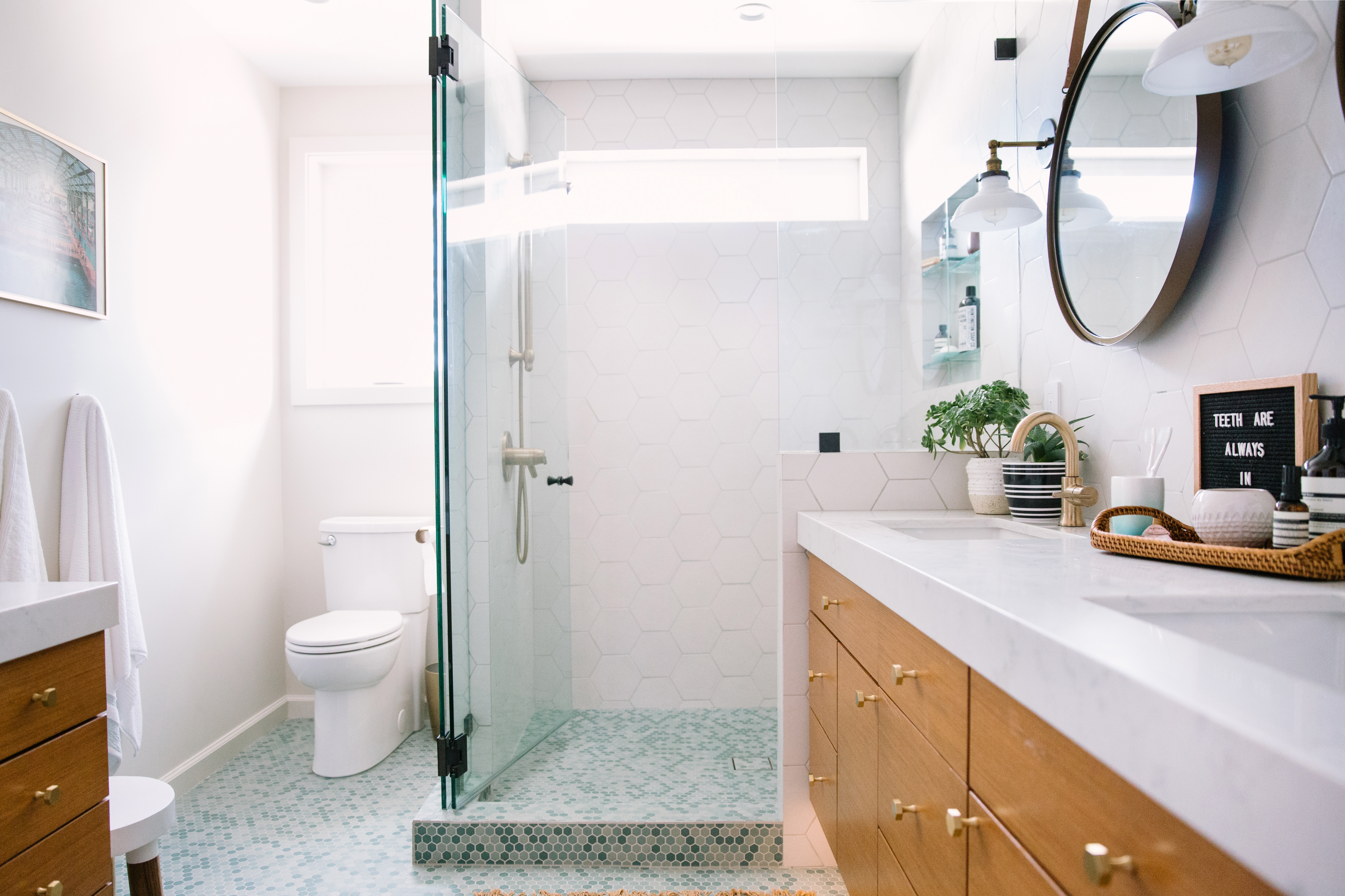 The New Open Floor Plan Features Ample Storage Double Sinks A Large Shower Plus Vanity That S Can Look Forward To Using More And As They